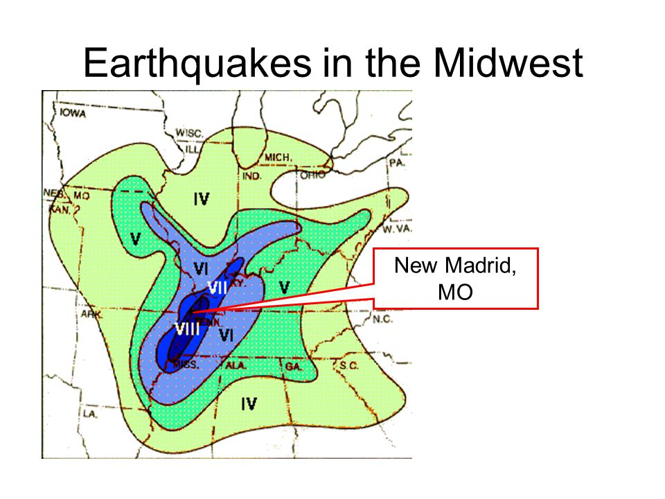 Earthquakes in the Midwest New Madrid, MO