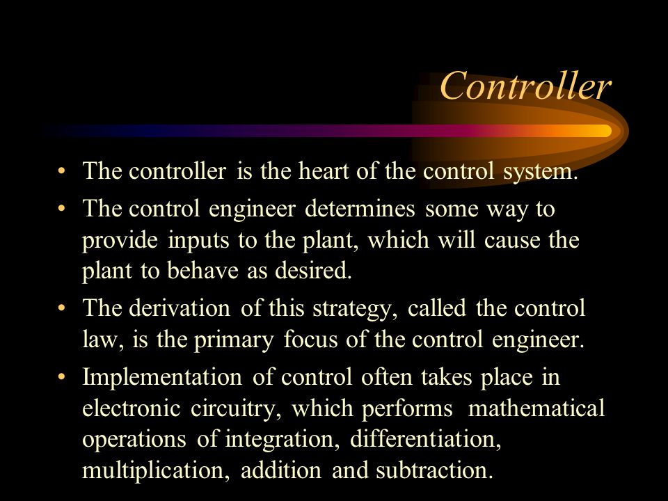 BANG-BANG CONTROL Consider, for example, the cooling system in your automobile.