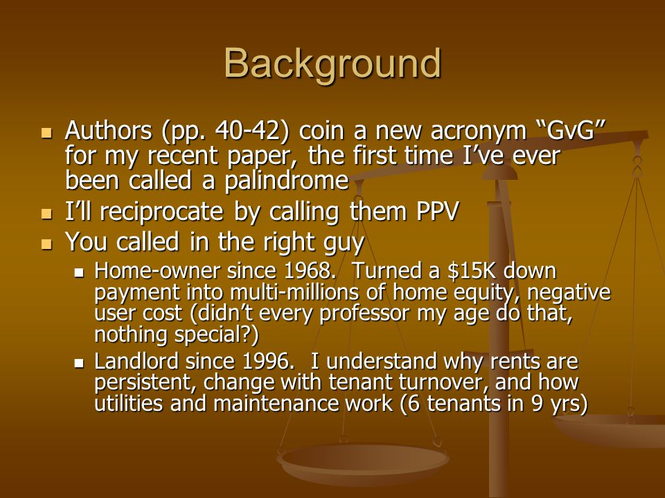 """Background Authors (pp. 40-42) coin a new acronym """"GvG"""" for my recent paper, the first time I've ever been called a palindrome Authors (pp. 40-42) coi"""