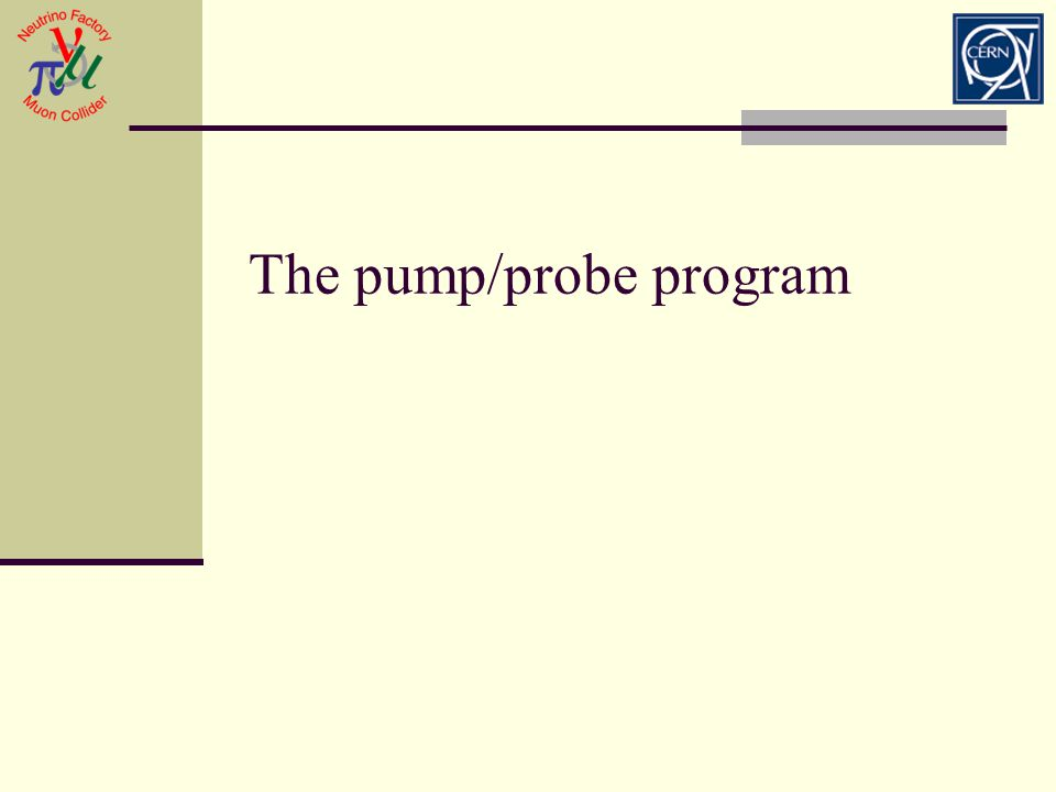The pump/probe program