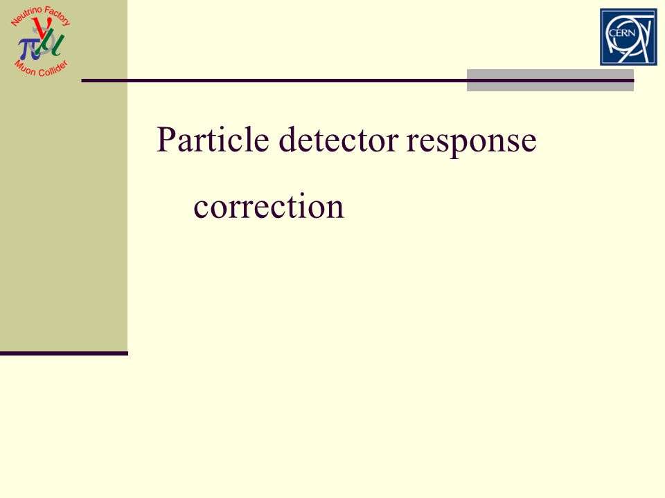 Particle detector response correction