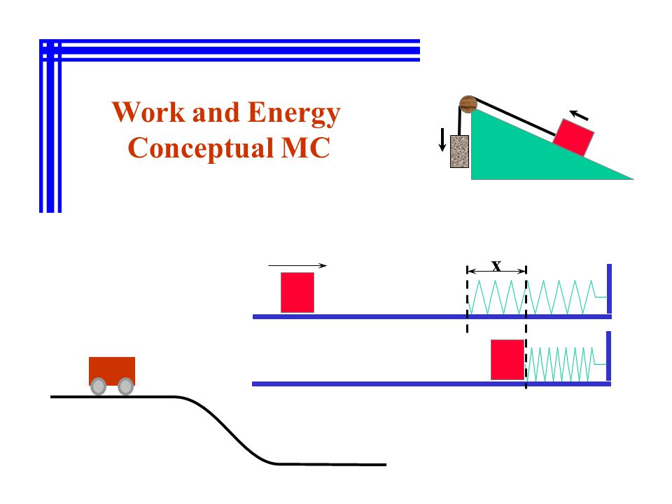 Work and Energy Conceptual MC x