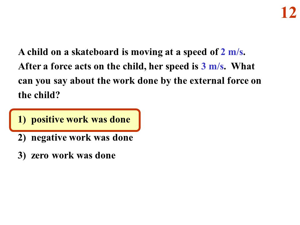 A child on a skateboard is moving at a speed of 2 m/s.