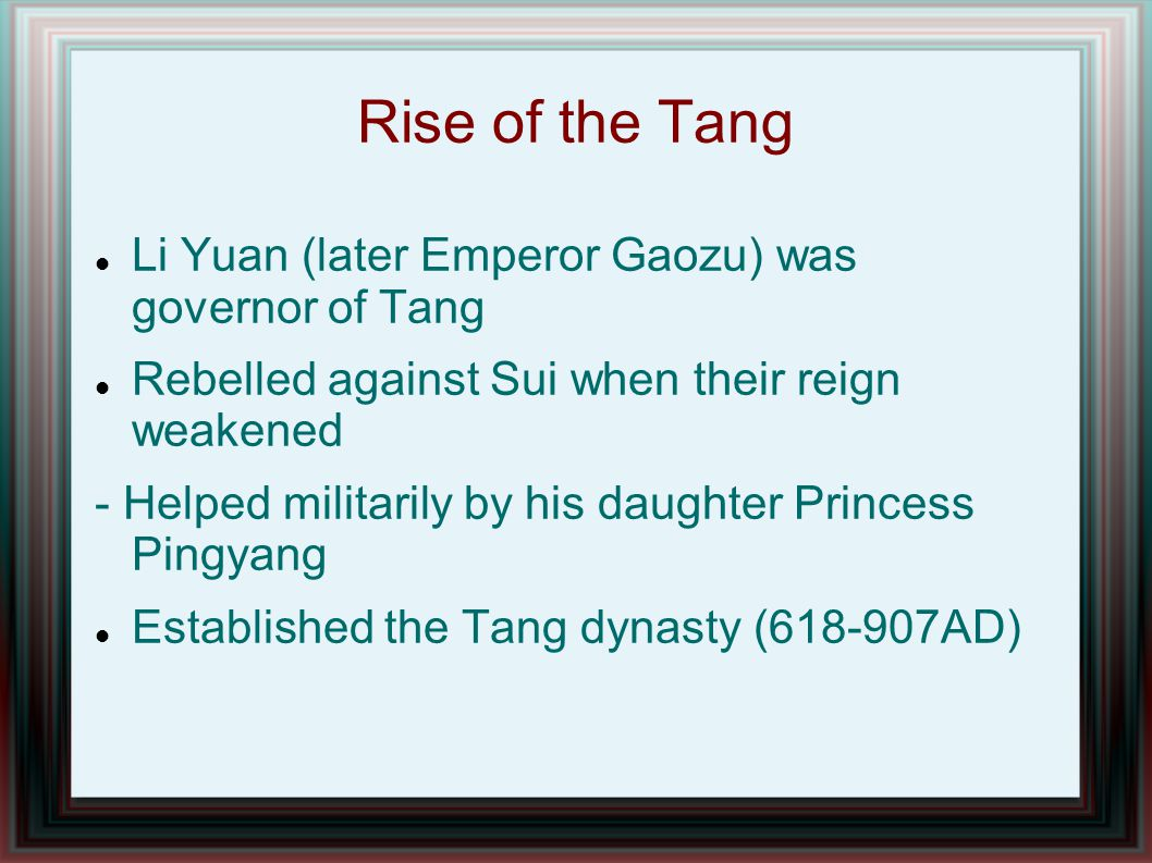Continued many developments from Tang - Civil Service - Population Growth Detailed Mapping of the Empire - Why would that be important.