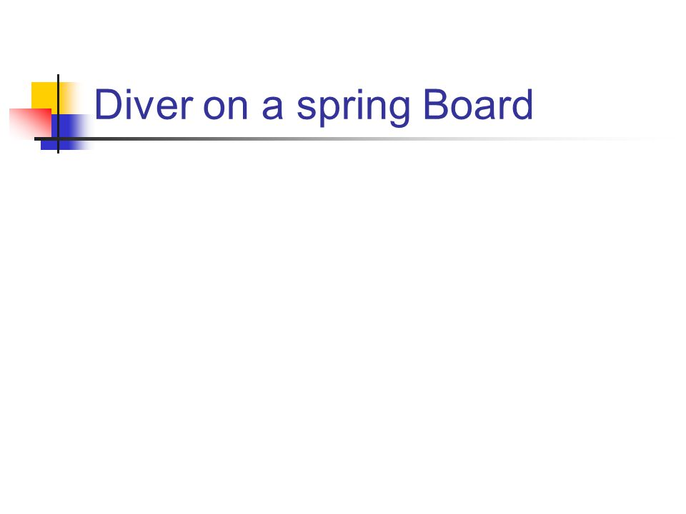 Diver on a spring Board