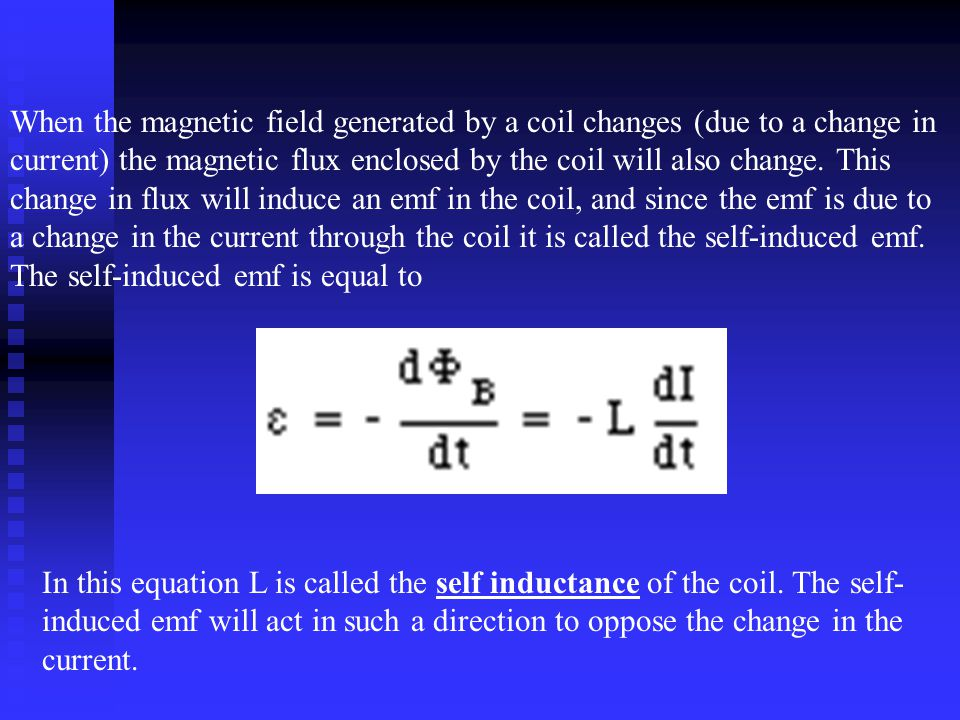When the magnetic field generated by a coil changes (due to a change in current) the magnetic flux enclosed by the coil will also change.
