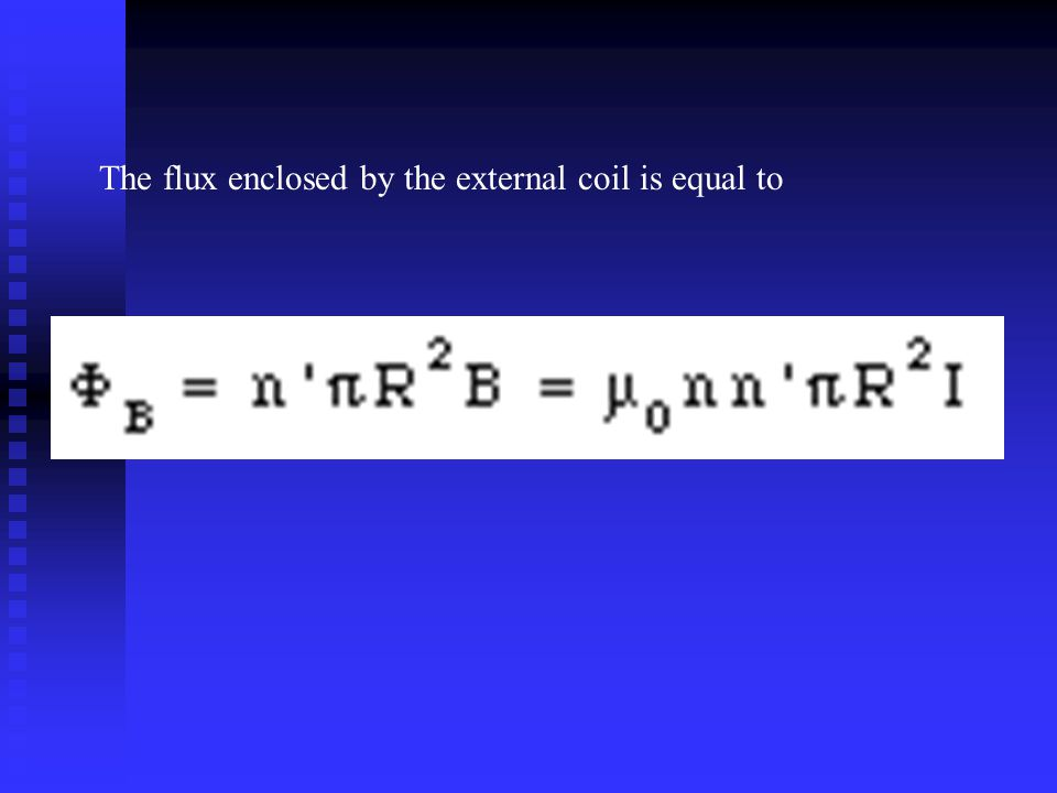The flux enclosed by the external coil is equal to