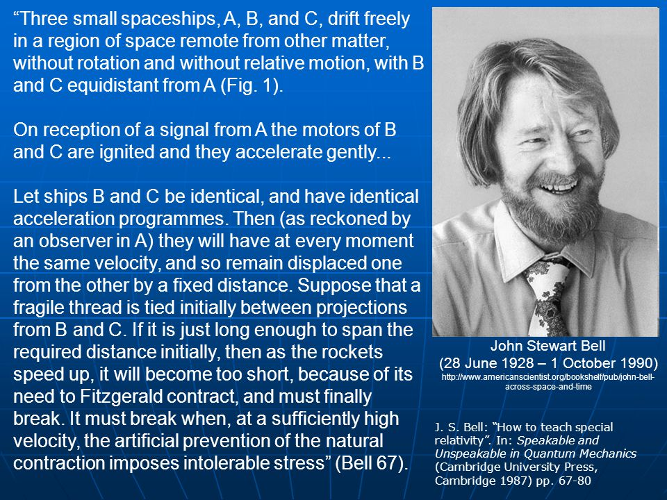 References J.S. Bell: How to teach special relativity .