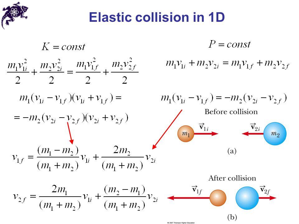 Elastic collision in 1D