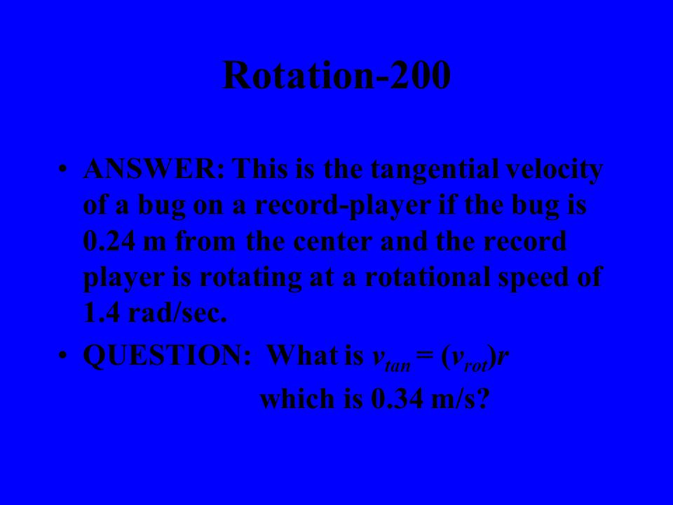 ANSWER: This is what causes something to rotationally accelerate.