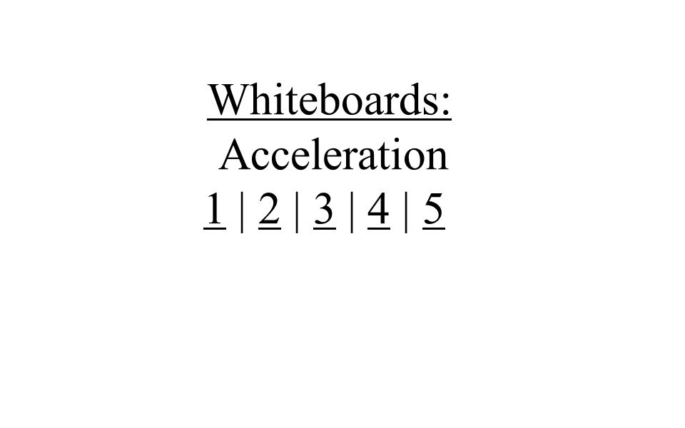 Whiteboards: Acceleration 11 | 2 | 3 | 4 | 52345