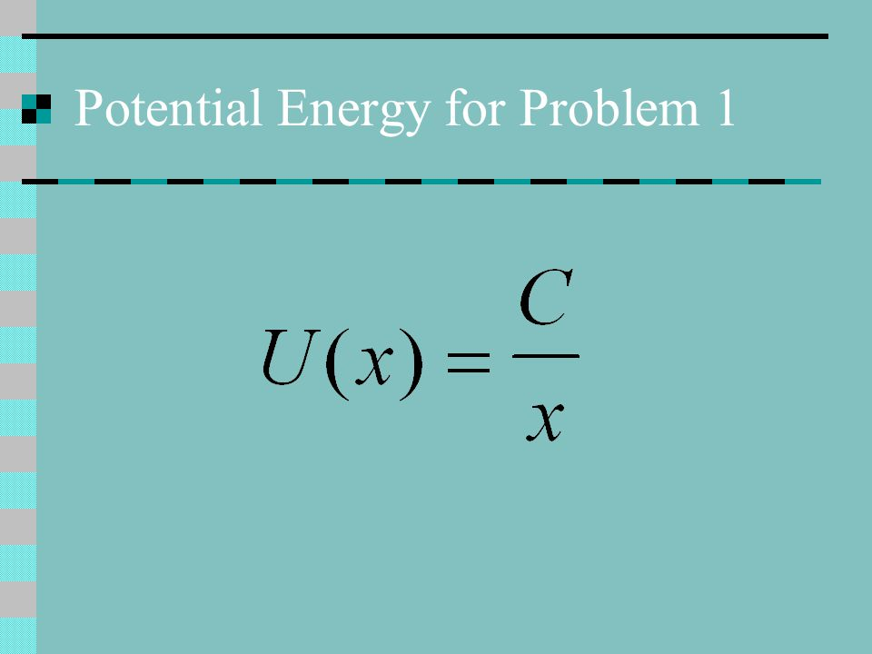 Potential Energy for Problem 1
