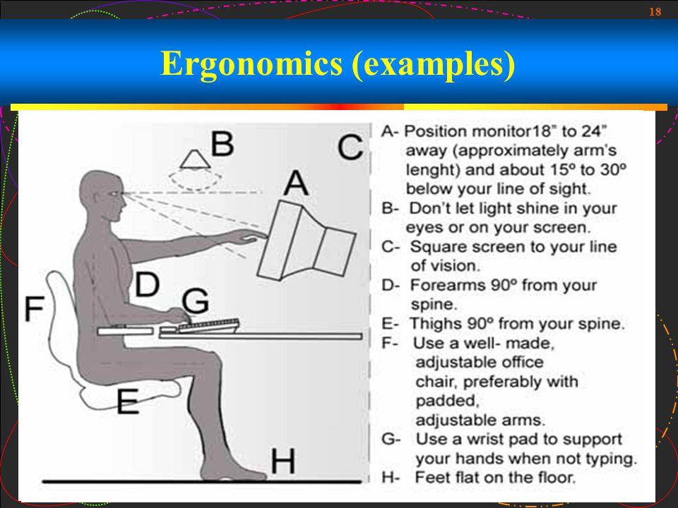 18 Ergonomics (examples)