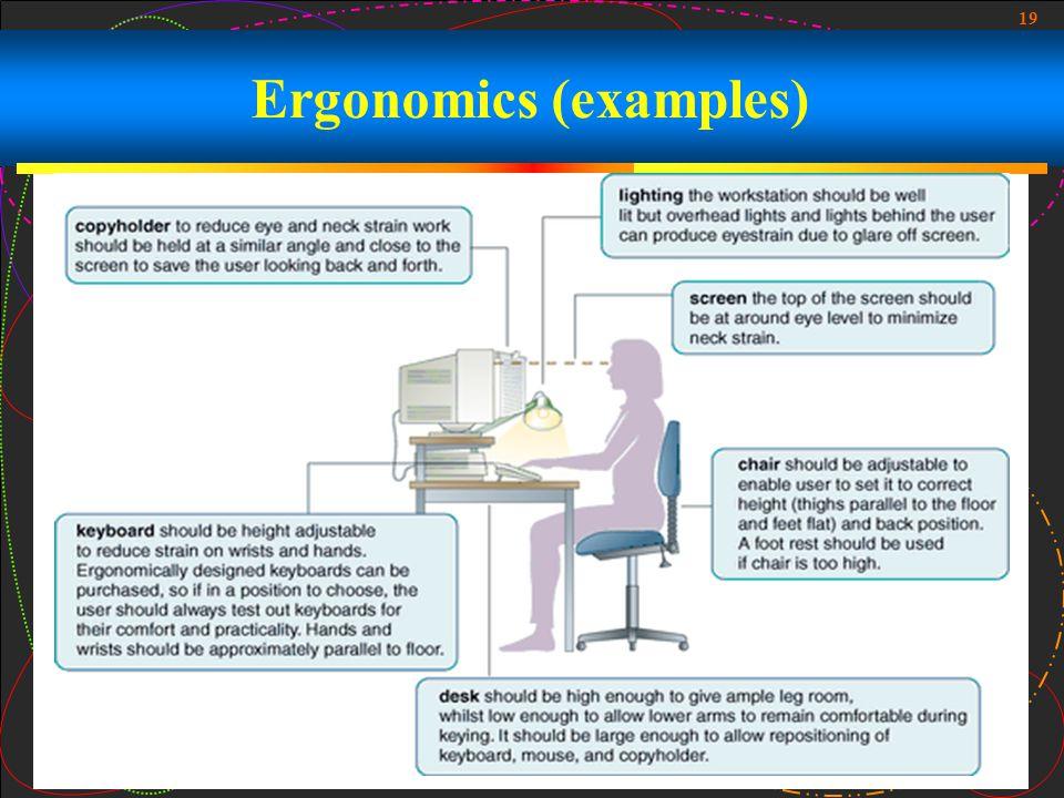 19 Ergonomics (examples)