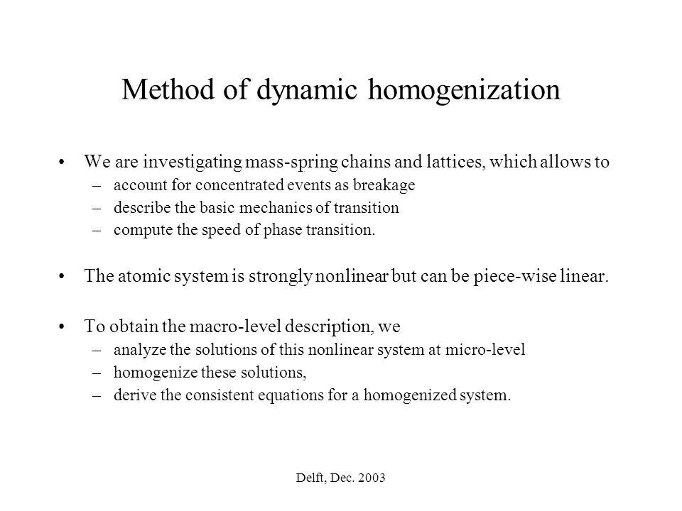 Delft, Dec. 2003 Large time range description with Toshio Yoshikawa