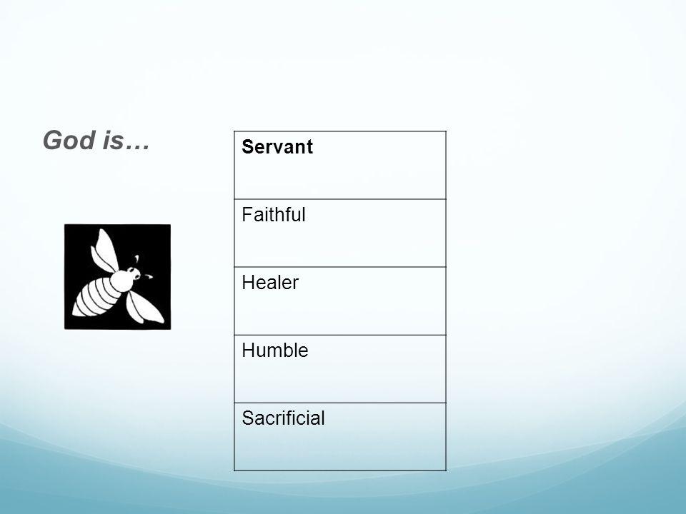 God is… Servant Faithful Healer Humble Sacrificial