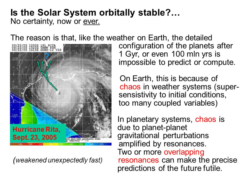 Is the Solar System orbitally stable … No certainty, now or ever.
