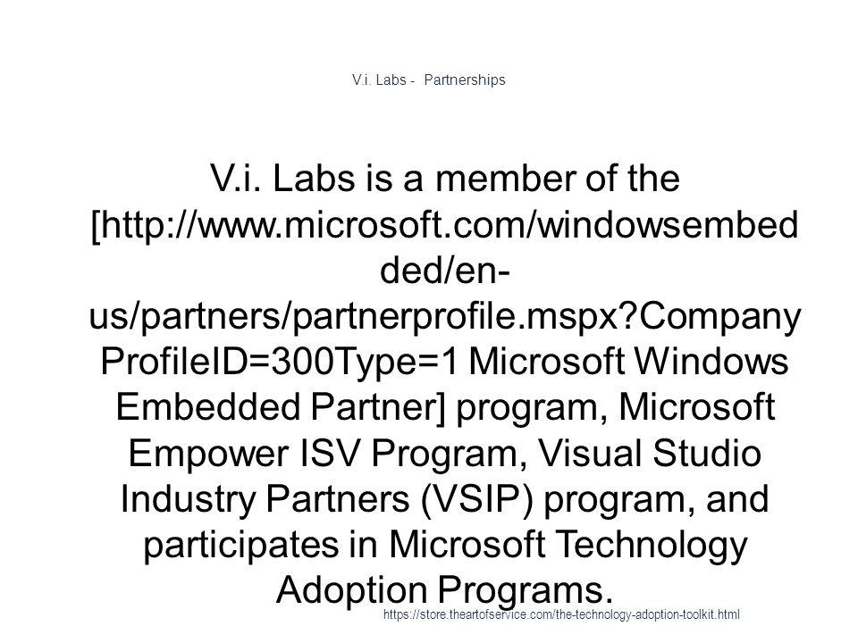 V.i. Labs - Partnerships 1 V.i.