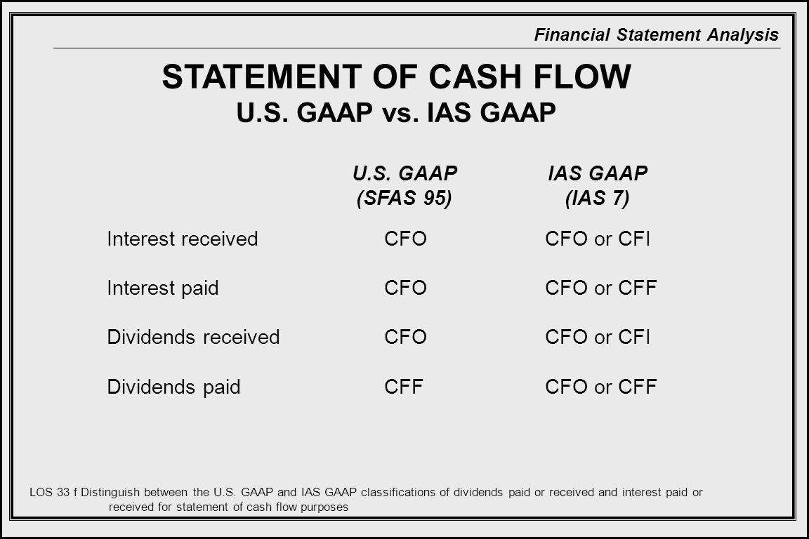 Financial Statement Analysis STATEMENT OF CASH FLOW U.S.