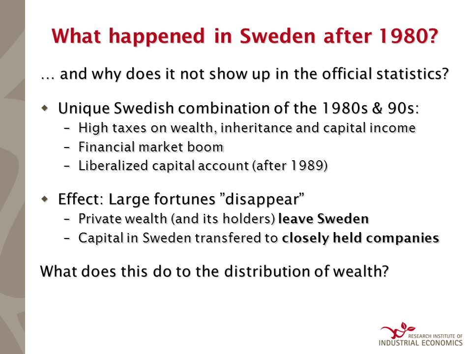 What happened in Sweden after 1980. … and why does it not show up in the official statistics.
