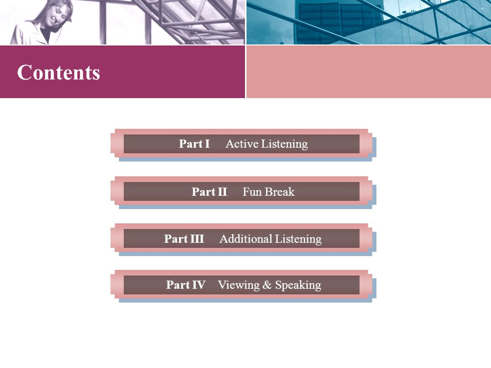 Learning Objectives 1.To understand the main ideas and select specific information while listening.