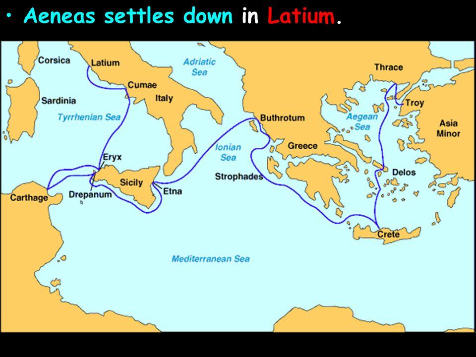Aeneas settles down in Latium.
