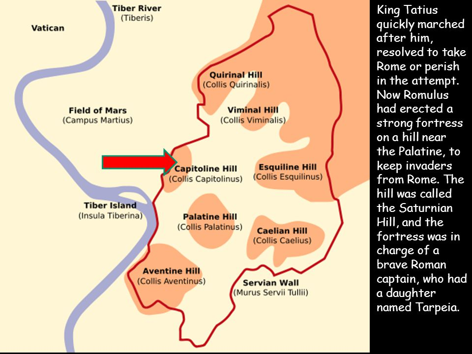King Tatius quickly marched after him, resolved to take Rome or perish in the attempt.