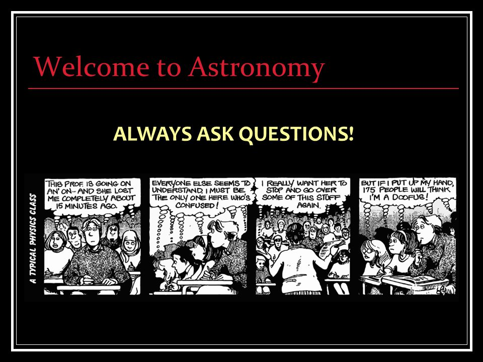 Welcome to Astronomy There are problems to whose solution I would attach an infinitely greater importance than to those of mathematics, for example touching ethics, or our relation to God, or concerning our destiny and our future; but their solution lies wholly beyond us and completely outside the province of science.