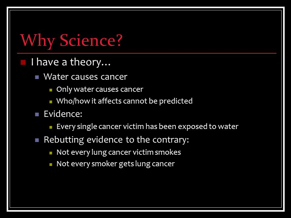 Why Science.