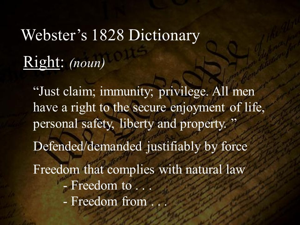 We hold these truths to be self evident, that all men are created equal, that they are endowed by their Creator with certain unalienable rights, that among these are life, liberty The Declaration of Independence