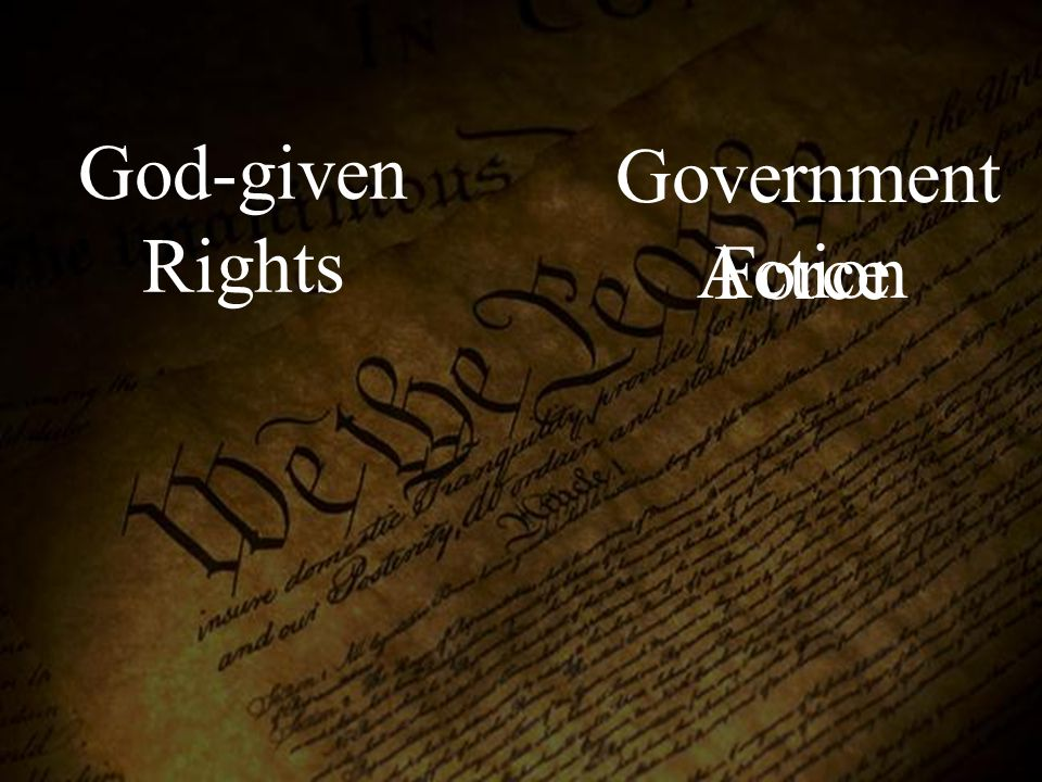 God-given Rights Government Force Action