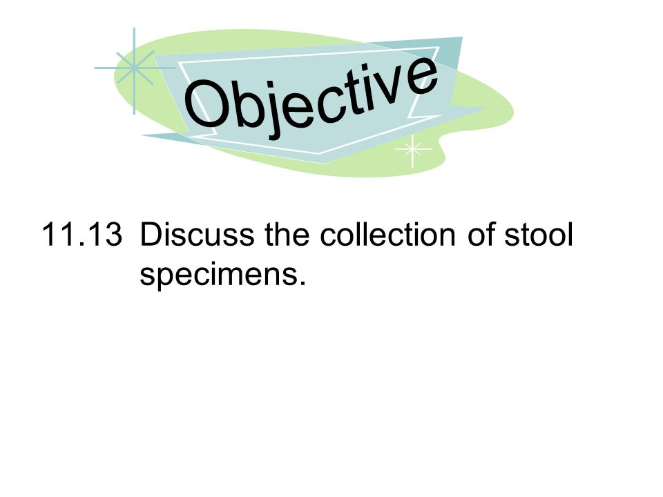 11.13Discuss the collection of stool specimens.