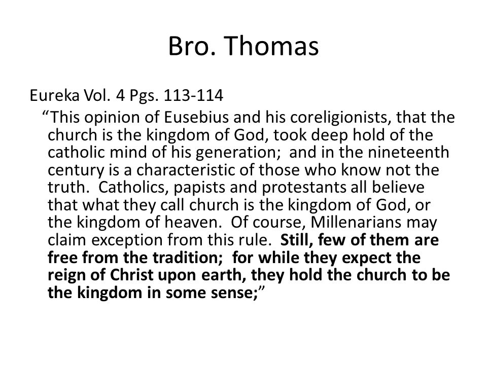 Bro. Thomas Eureka Vol. 4 Pgs.