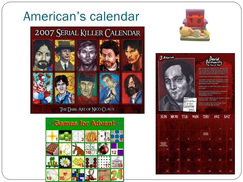 American's calendar