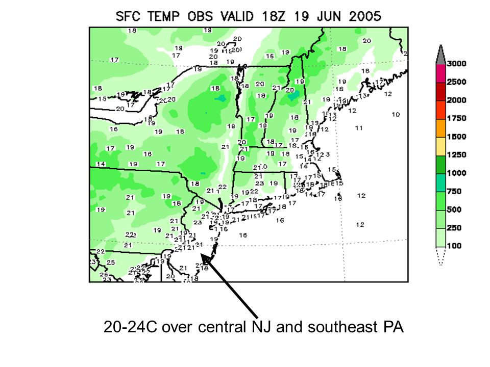 20-24C over central NJ and southeast PA
