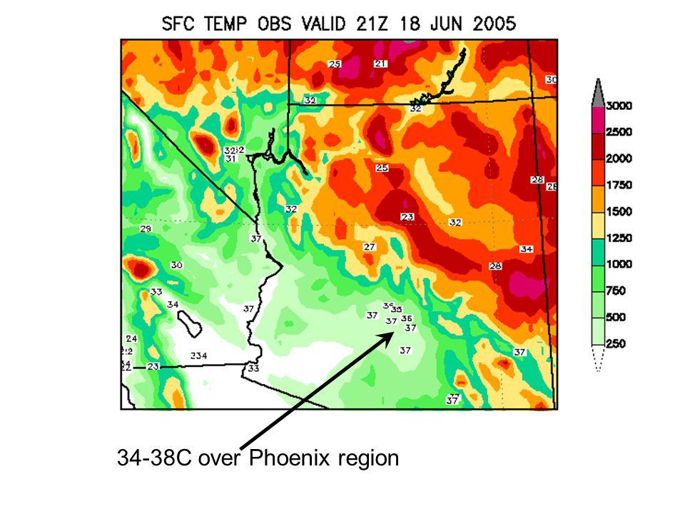 34-38C over Phoenix region