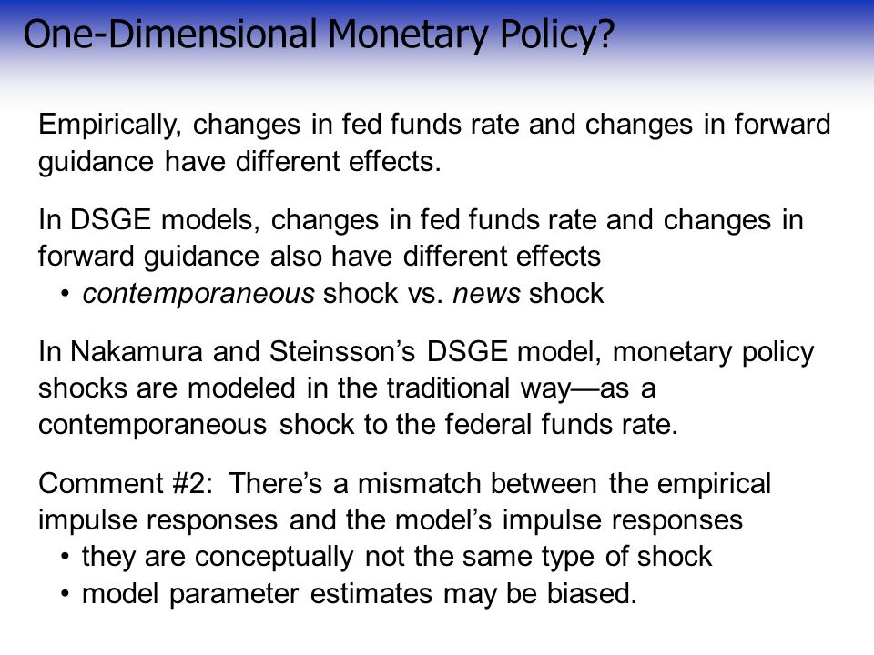 One-Dimensional Monetary Policy.