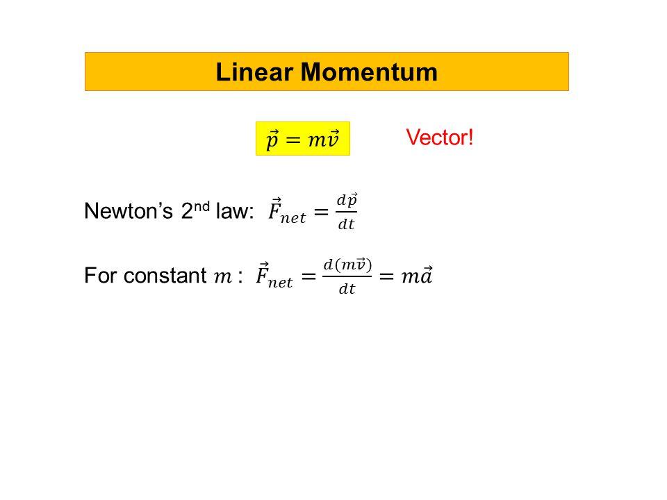 Linear Momentum Vector!