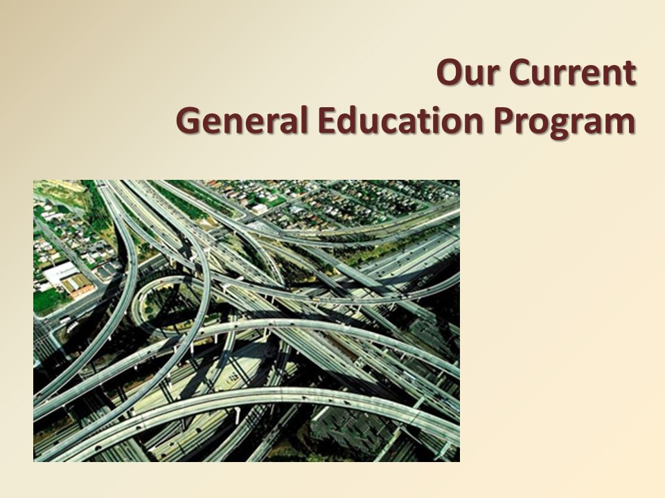 Our Current General Education Program