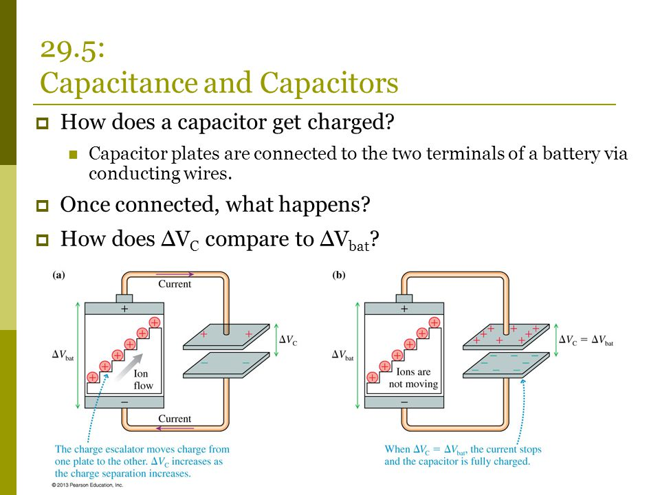  How does a capacitor get charged.