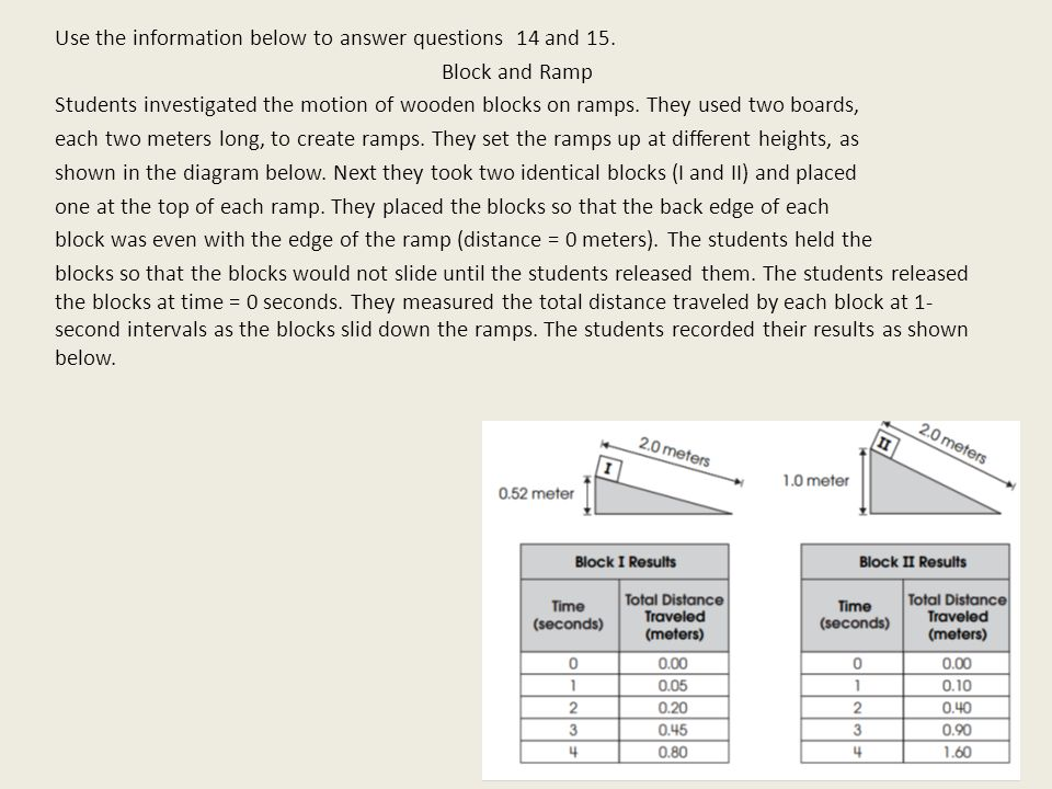 Use the information below to answer questions 14 and 15.