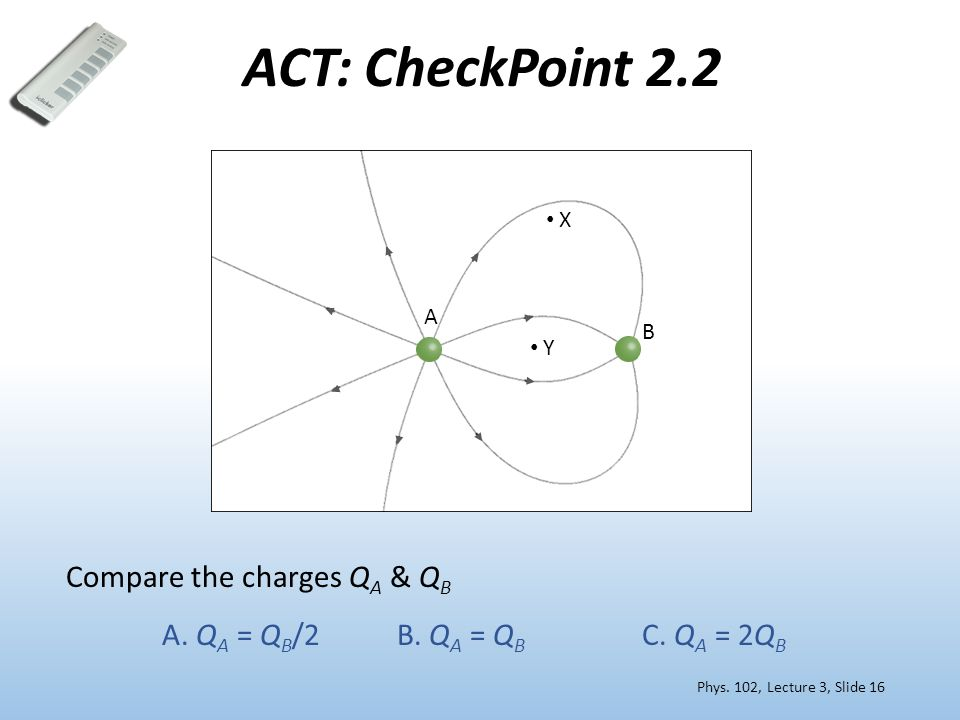 ACT: CheckPoint 2.2 Compare the charges Q A & Q B A.