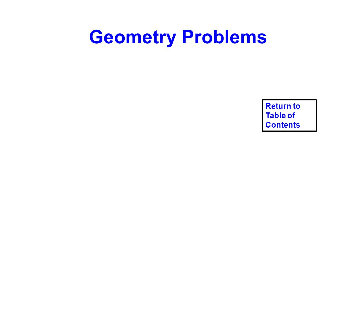 Geometry Problems Return to Table of Contents