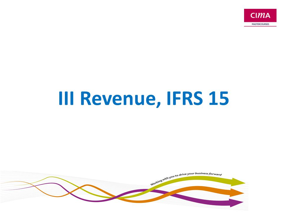 Introduction to IFRS 15 In force for periods beginning on 1.1.