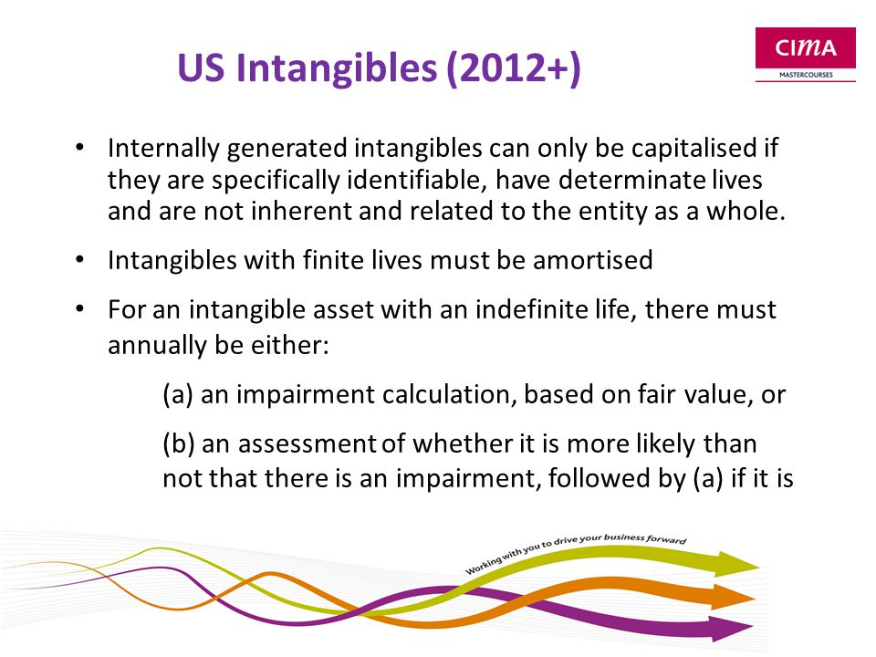 Table B Where US practice is not usually consistent with IFRS - Intangibles (including goodwill) with indefinite lives.