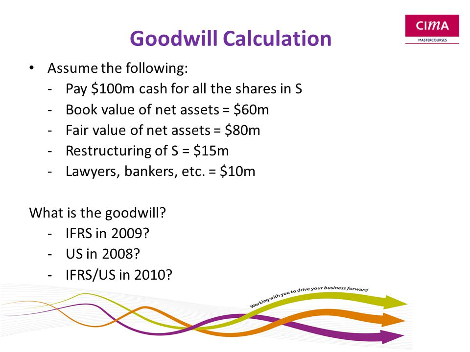 Goodwill and NCI The calculation of the size of any non-controlling interests will also affect the calculation of goodwill.