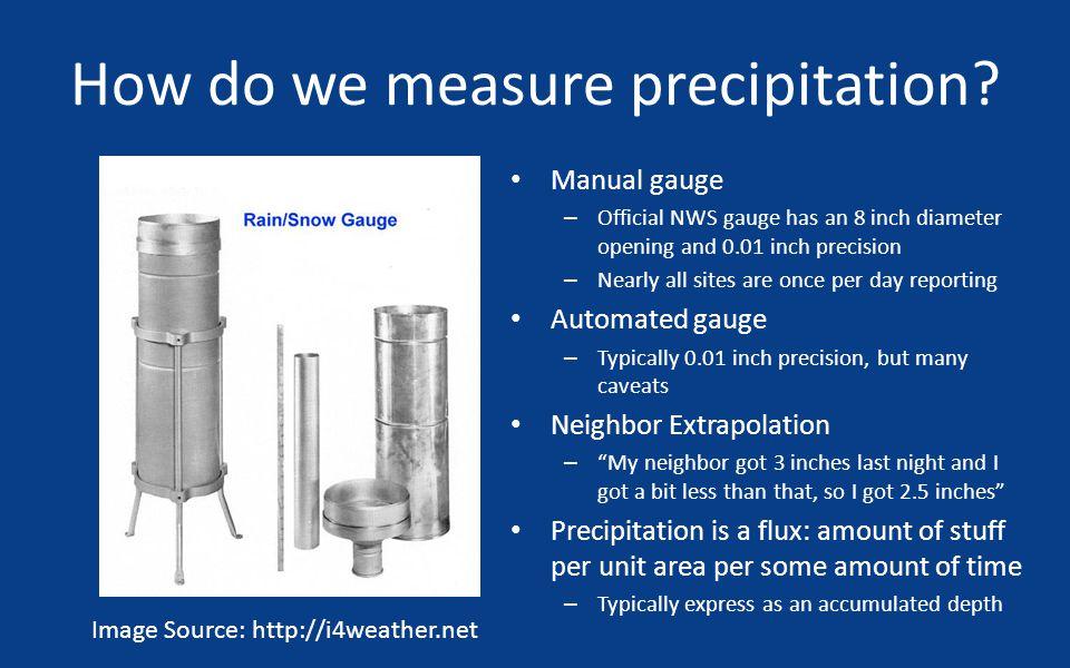 How do we measure precipitation.