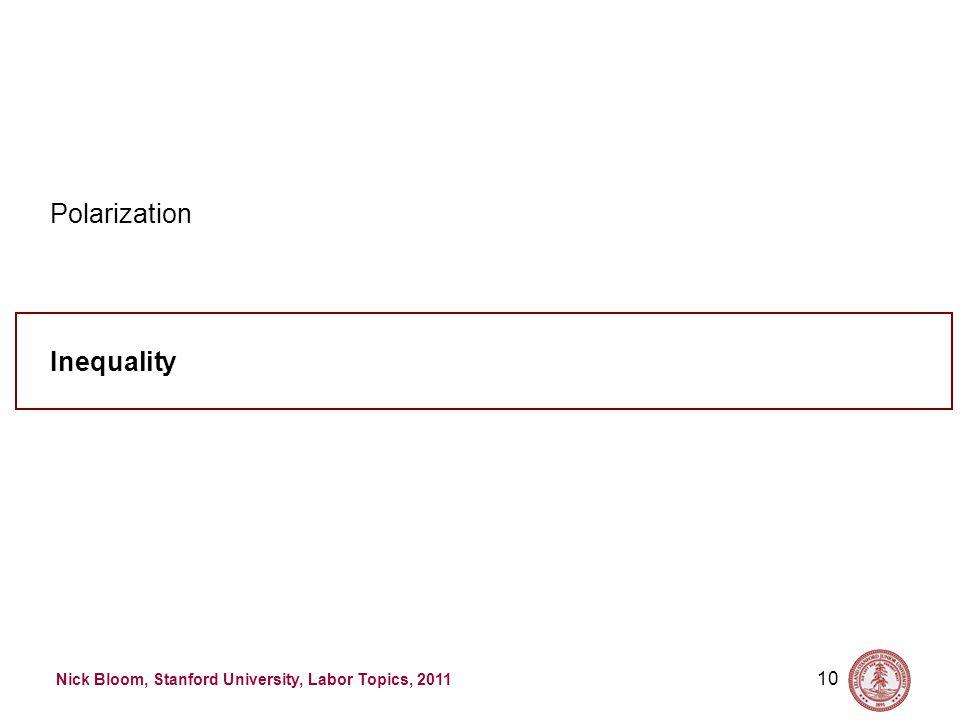 Nick Bloom, Stanford University, Labor Topics, 2011 10 Inequality Polarization