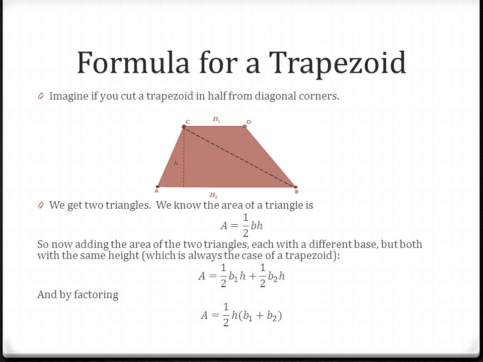 Formula for a Trapezoid