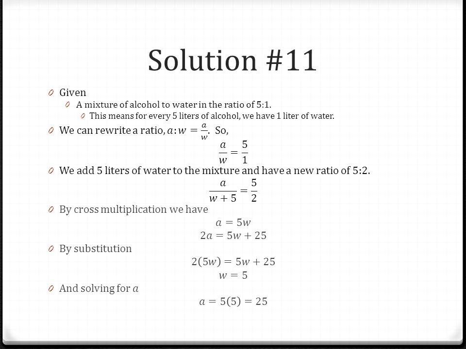 Solution #11